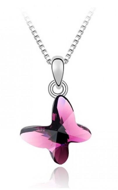 Crystal - Butterfly Necklace - YSJ036