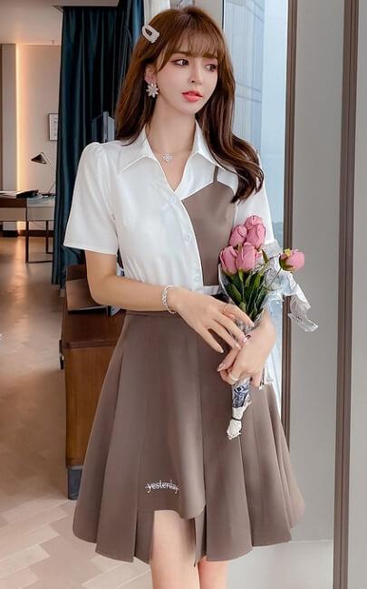 4✮- Dress (Top+Skirt) - JYFRS11076