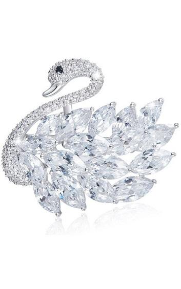 Crystal - Swam Brooch - CDJC0327