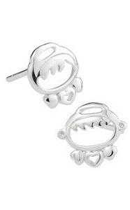 Silver - Cute Angel Baby Earring - YJJ023